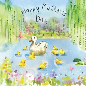 FIZ34 - Happy Mother's Day Card Ducklings